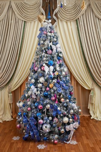 Beautiful Blue and Silver Christmas Tree