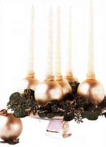 DIY Christmas Ball Candleholders