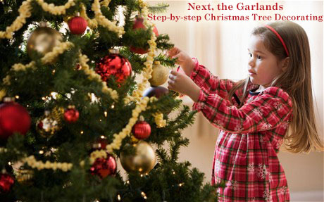 Step by Step Christmas Tree Decorating - Next, the Garlands