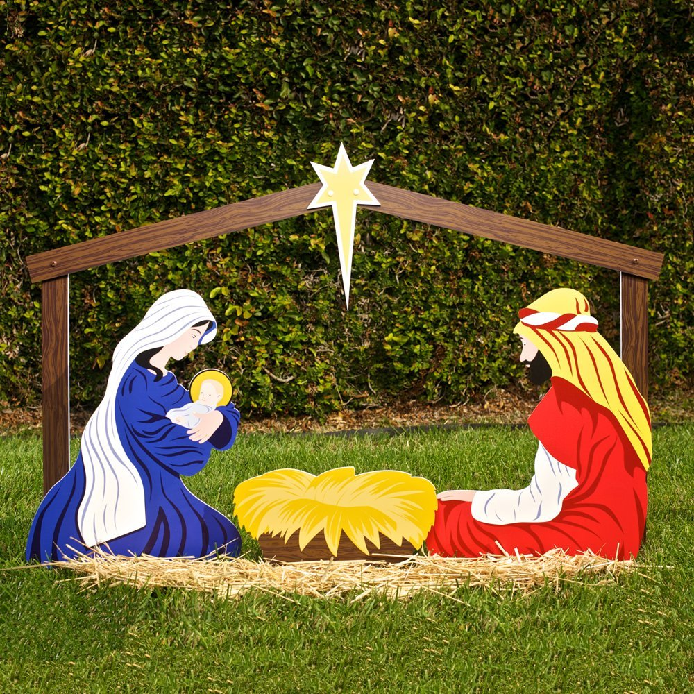 Outdoor christmas decorations for sale - Outdoor Nativity Scene Christmas Yard Decoration Outdoor Christmas Decorating Ideas Celebrating Christmas