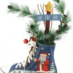 Canvas Shoe Creative Christmas Centerpiece Idea