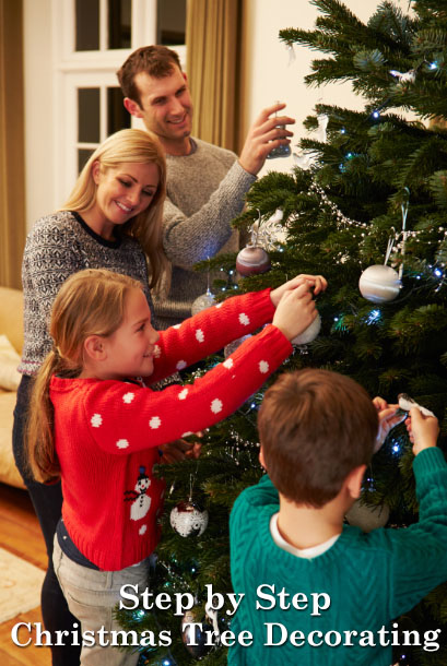 Step by Step Christmas Tree Decorating - The Basics