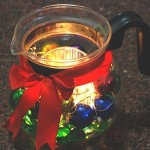 Tea Kettle Creative Christmas Centerpiece Idea