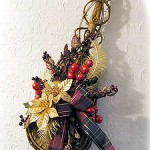 DIY Wooden Violin Christmas Door Decoration