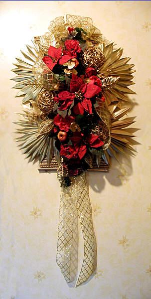 Poinsettia Wall Hanging: DIY Christmas decoration