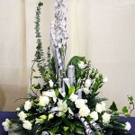 Silver-White Festive Flower Arrangement