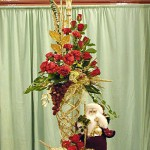 Exquisite Red Floral Arrangement for Christmas
