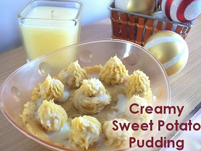 Creamy Sweet Potato Pudding - Christmas Dessert Recipe