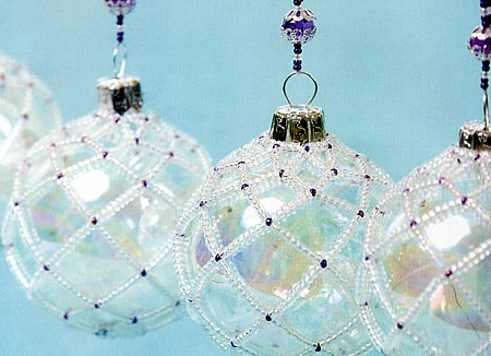 DIY Beaded Christmas Ornament Covers