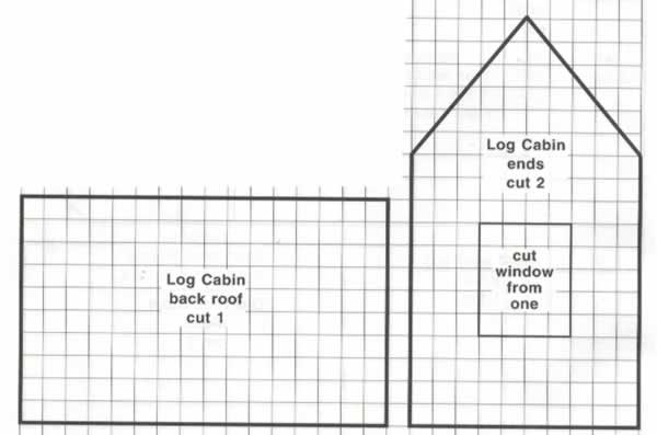 Log Cabin Gingerbread House Pattern