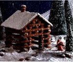 Gingerbread House Pattern – Log Cabin