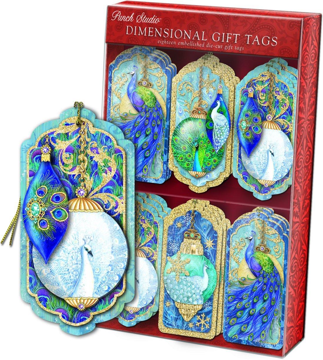 Peacock Gift Tags for Christmas