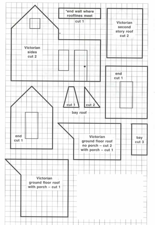 Free printable gingerbread house patterns, recipes and templates.