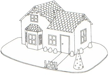 Gingerbread house blueprint victorian house for Gingerbread house floor plans