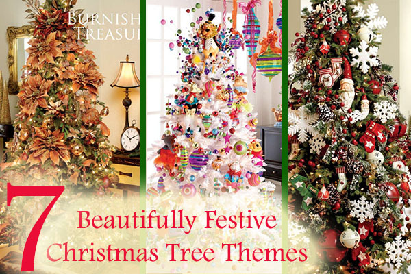 7 Beautifully Festive Christmas Tree Themes