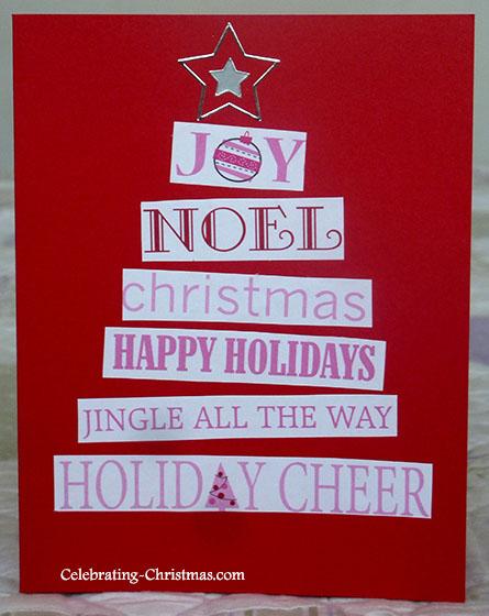 Christmas Wishes Tree - Easy handmade Christmas card