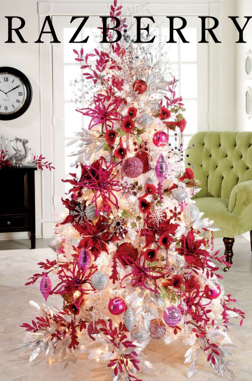 Hot Pink and White Christmas Tree Theme