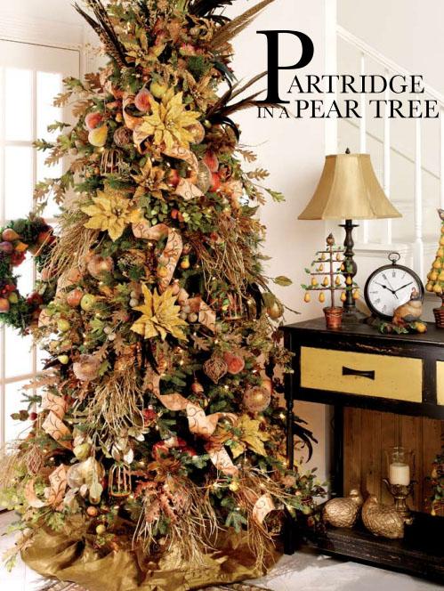 Nature Themed Christmas Tree Decorating