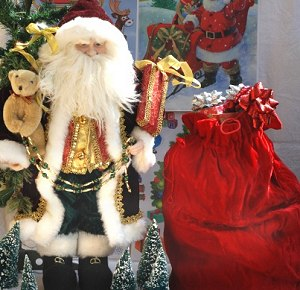 Santa and his Sack of Gifts - Christmas Party Decoration Idea