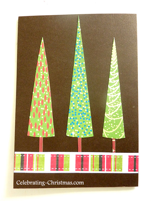 Festive Christmas Trees - Easy Handmade Christmas Card Idea