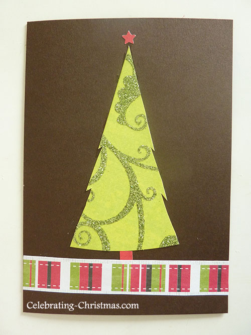 Woodland Christmas Tree Card